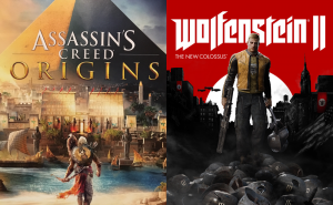 Assassin's Creed Origins and Wolfenstein II coming tomorrow