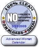 Advanced Woman Calendar Clean Award