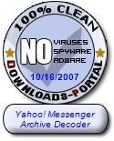 Yahoo! Messenger Archive Decoder Clean Award
