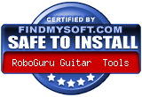 FindMySoft certifies that RoboGuru Guitar Tools is SAFE TO INSTALL