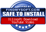 FindMySoft certifies that Xilisoft Download YouTube Video is SAFE TO INSTALL