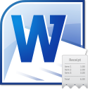 MS Word Receipt Template Software