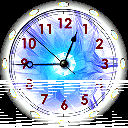 7art Aquarius Clock © 7art-screensavers.com