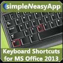 Keyboard Shortcuts for MS Office 2013 - A simpleNeasyApp by WAGmob