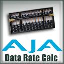 AJA Data Rate Calculator