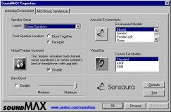 Soundmax properties