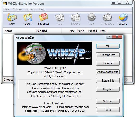 Looking for WinZip 9