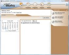 Microsoft Works 8.5 Shot 1