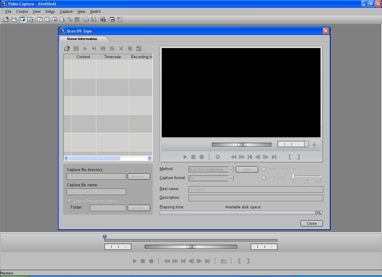 Scan a DV Tape