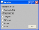 Language select dialog