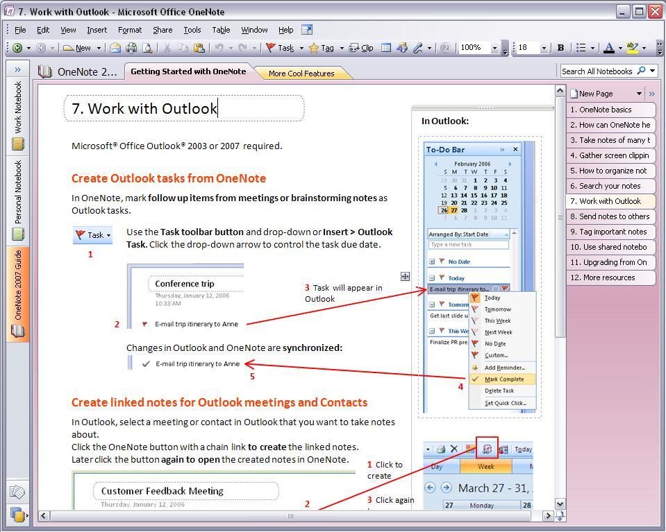 How to setup outlook to work with OneNote