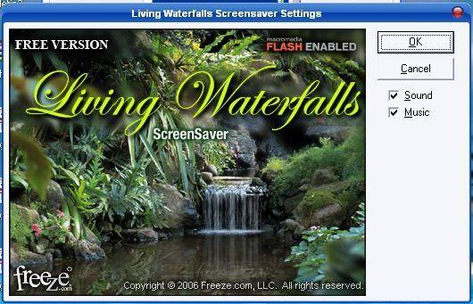 Living Waterfalls Screen Saver Software Informer: Screenshots