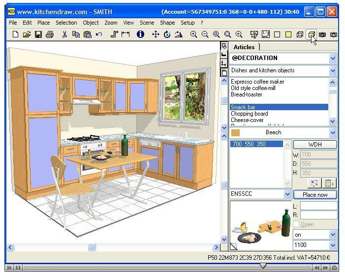 Kitchendraw software informer screenshots for Kitchendraw 6 5