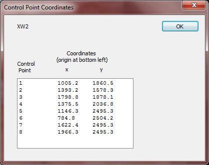 Control Point Coordinates
