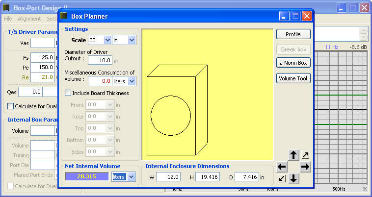 Box Port Design Software Informer Screenshots