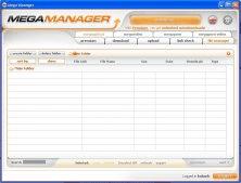 Mega Manager main window