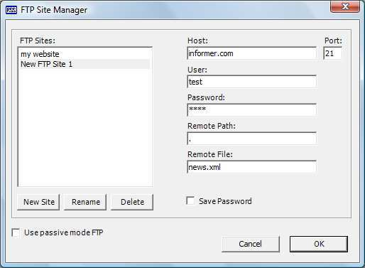 FTP Site Manager