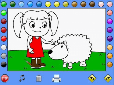 Girl Leahs Farm Coloring Book Snapshot