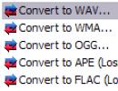 Convert options