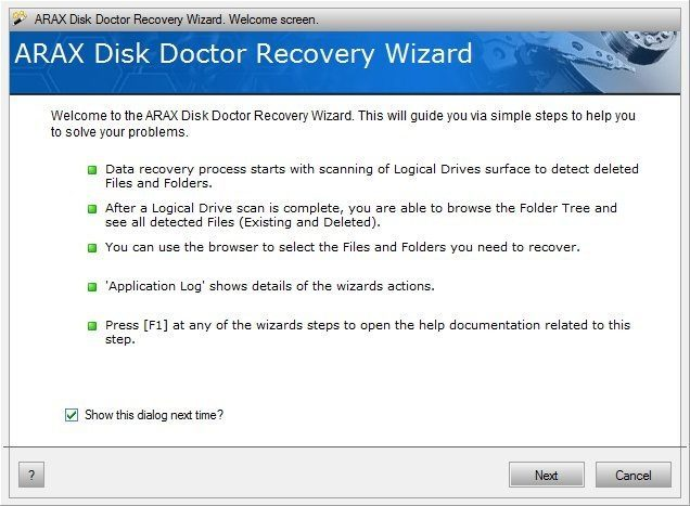ARAX Disk Doctor Data Recovery.