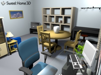 Home Design Software on Sweet Home 3d 2 0   High Quality Render From Virtual Visit View