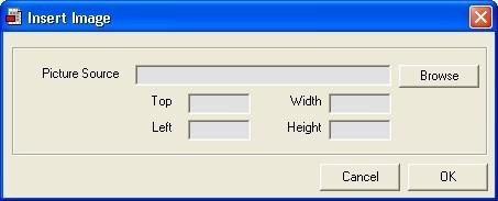 Insert image window