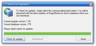 First run: updating the program database