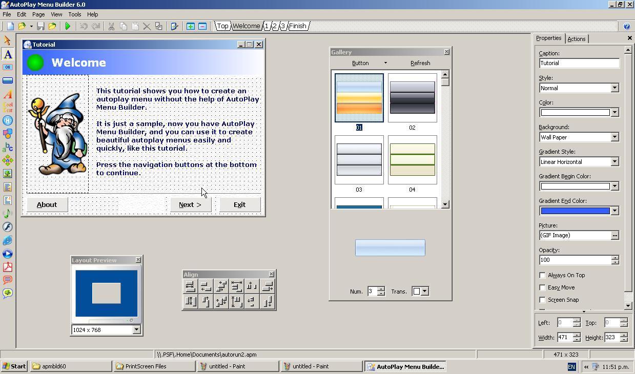 Autoplay menu builder software informer screenshots for Autoplay menu builder templates
