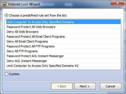 Internet Lock Wizard