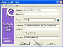 Nortel VPN Client screenshot