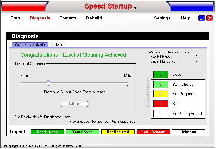 Speed Startup - General Analysis