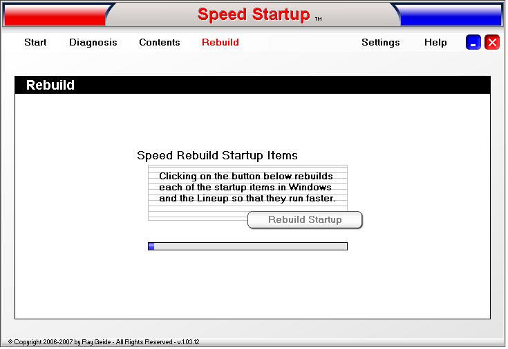Speed Startup - Rebuild Startup