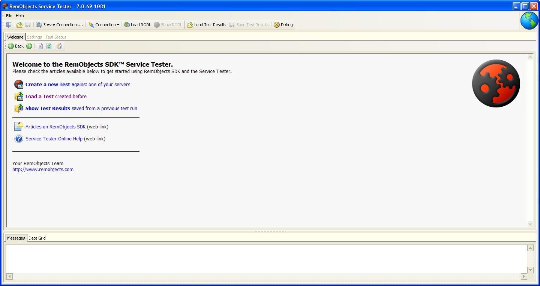 Service Tester Window