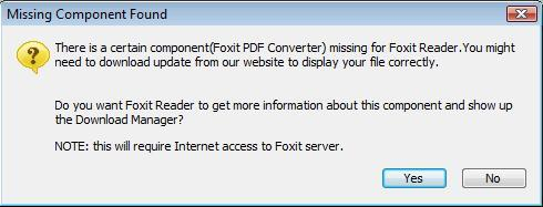 Warning about missing PDF converter