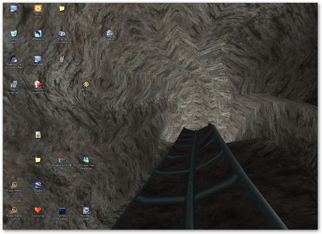 Look at my desktop! Well, you have to see it moving...