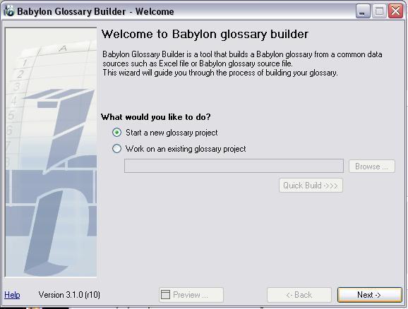Create glossary