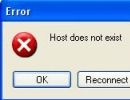 Screenshot of an error message