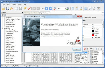 Vocabulary Worksheet Factory 5.0 Download (Free trial ...