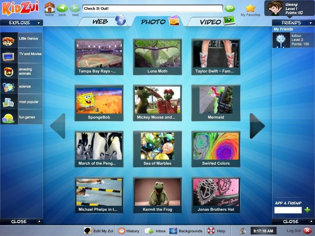Photo browser window