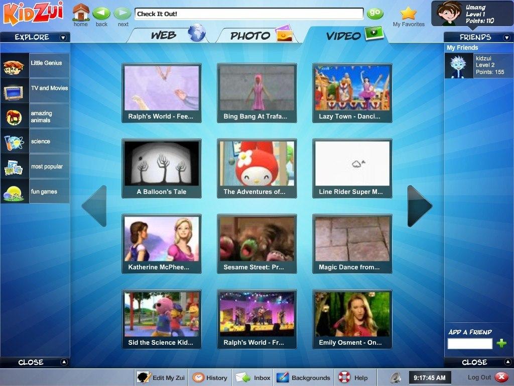Video browser window