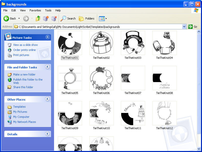 LightScribe Template Designs - Tie The Knot Software Informer ...
