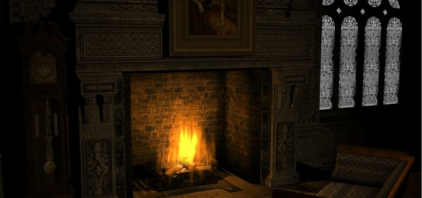 General view - Old Fashioned Fireplace Screensaver - Software Informer. Old