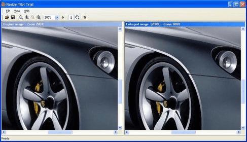 Resizing images using Resize Pilot