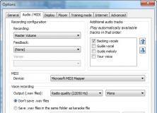Audio/Midi Options