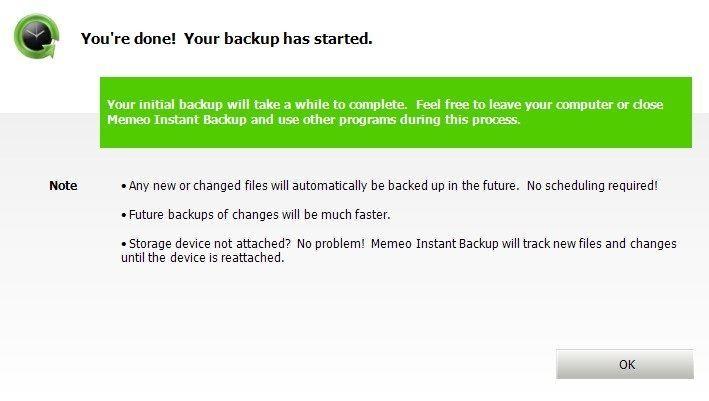 Backup Started