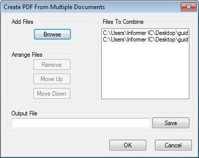 PDF Creating Window