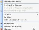 A process menu