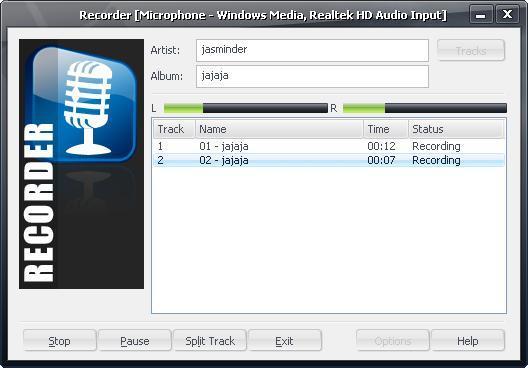 Recording a sound