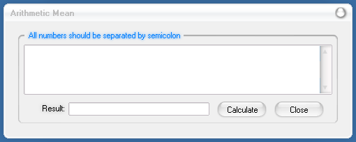 Modern Calculator: Arithmetic Mean