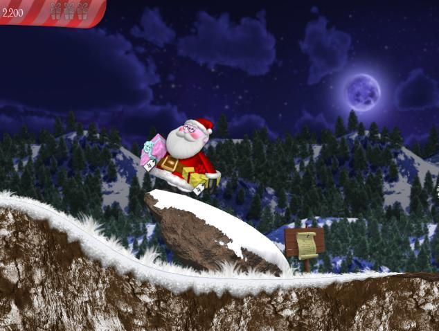 Helping Santa collect his presents